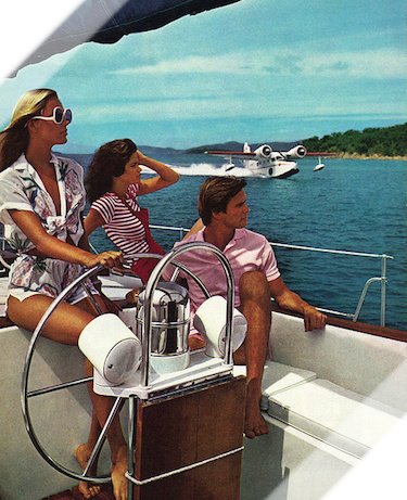 Calmly Cruising on Yacht 1970s