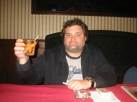 Artie with a Drink
