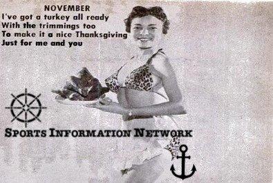 Pin-Up Model Thanksgiving