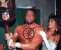 Macho Man with Smashed Guitar