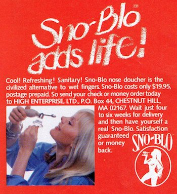 Sno-Blo Advertisement