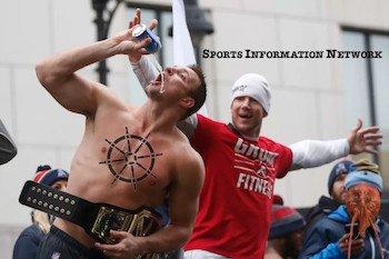 New England Patriots Gronk Chug