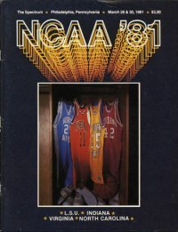 NCAA Final Four Program 1981