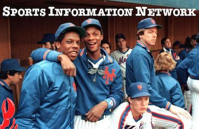 Doc and Darryl on Mets Bench